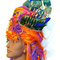 Orange And Purple Wig by David Faulk