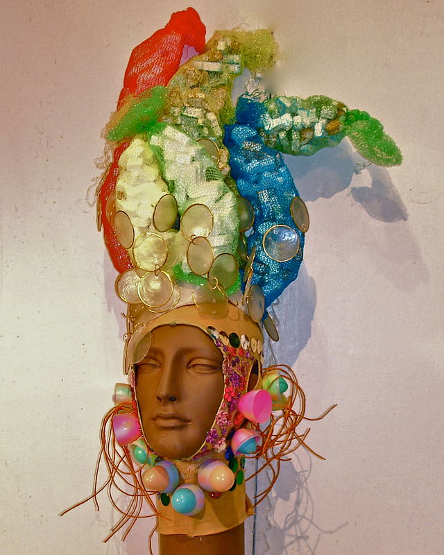 Onion Bag Wig, Easter Egg Balaklava by David Faulk