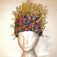 Q-Tips and Aquarium Rocks Wig by David Faulk