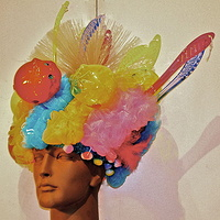 Bath Scrubber/Piggybank Wig by David Faulk