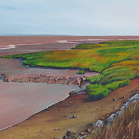 Oil painting Looking Back Along the Shoreline by Michael McEwing