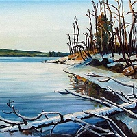 Oil painting Early Morning at Bayside by Michael McEwing