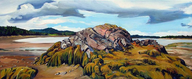 Oil painting Lowtide at Chamcook Harbour by Michael McEwing