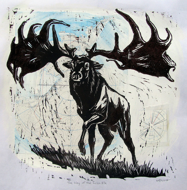 Print The Way of the Irish Elk No. 1 by Michael McEwing