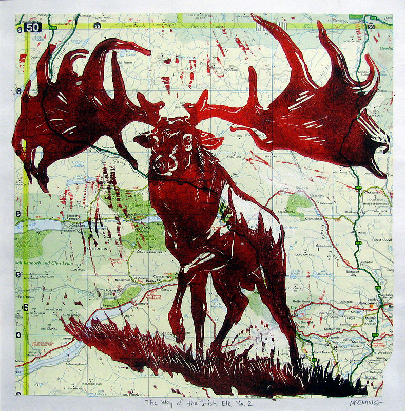 Print The Way of the Irish Elk No. 2 by Michael McEwing