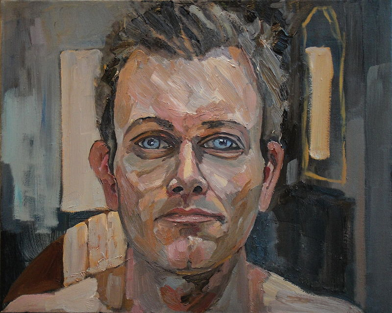 Oil painting Sees (Self Portrait) by Edward Miller