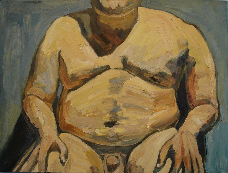 Oil painting Gordo by Edward Miller