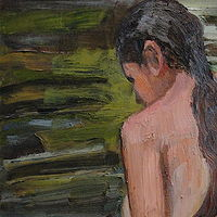 Oil painting Woman Bathing by Edward Miller
