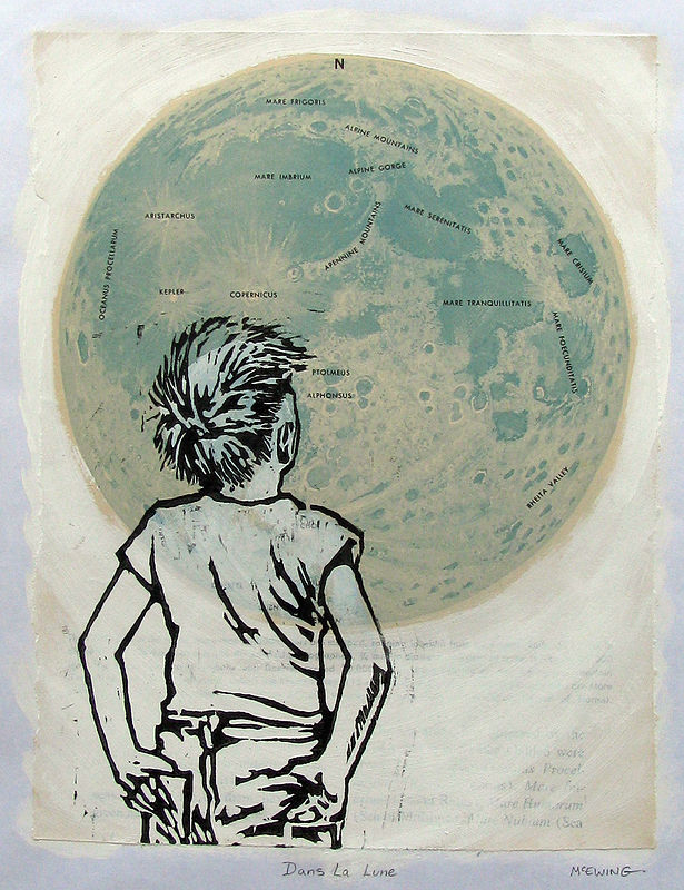 Print Dans La Lune No. 1 by Michael McEwing