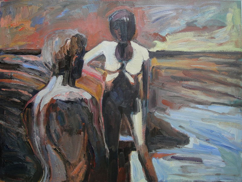 Oil painting Bischoff's Bathers by Edward Miller