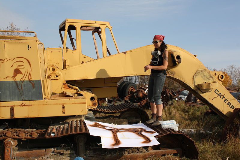 Photography Attawapiskat car dump installation by Sharon  Hunter