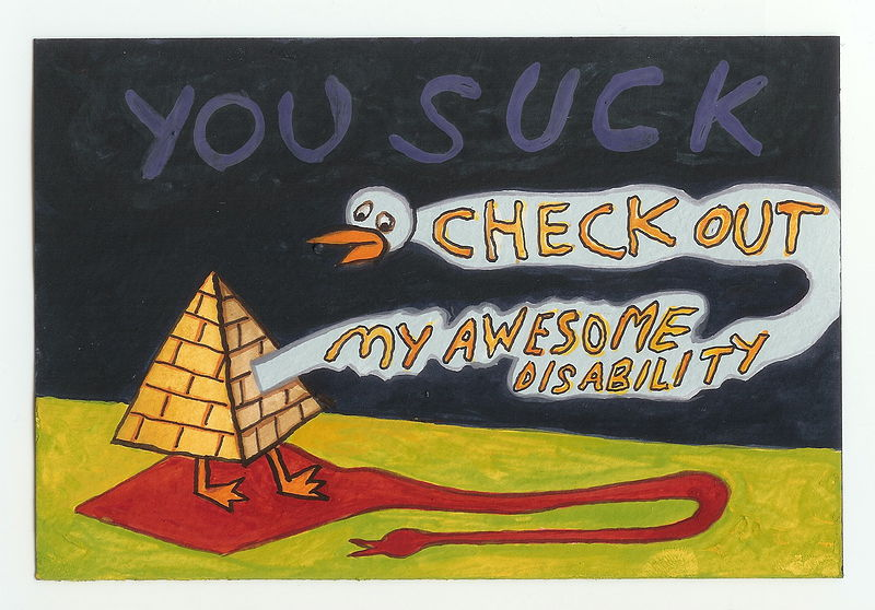 Watercolor My Awesome Disability by David Faulk