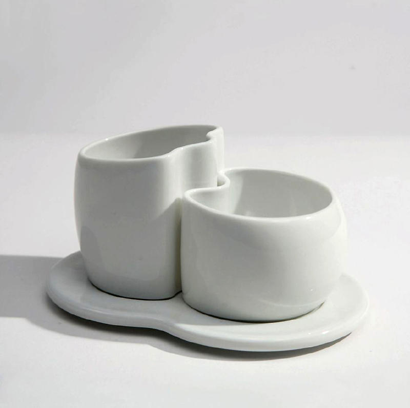 Drawing Blend- porcelain cream and sugar containers by John Greg Ball