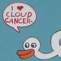 Acrylic painting Cloud Cancer by David Faulk