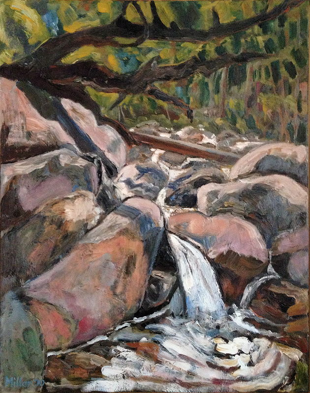 Oil painting East Branch Overture by Edward Miller