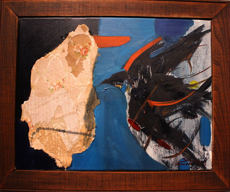 Oil painting Black Bird-2012 by Sharon  Hunter