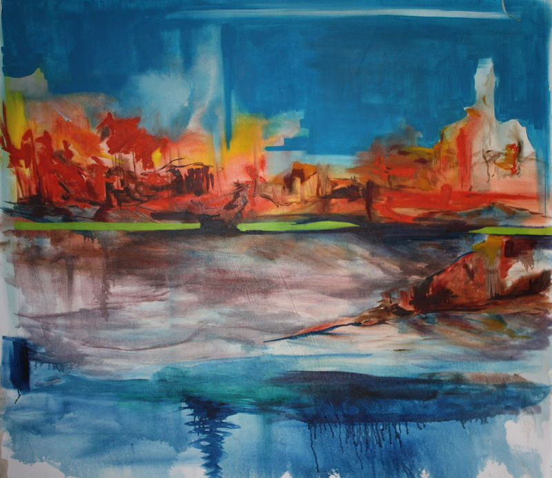 Oil painting Attawapiskat River-2011 by Sharon  Hunter