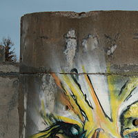 Painting Eagle on concret culvert by Sharon  Hunter
