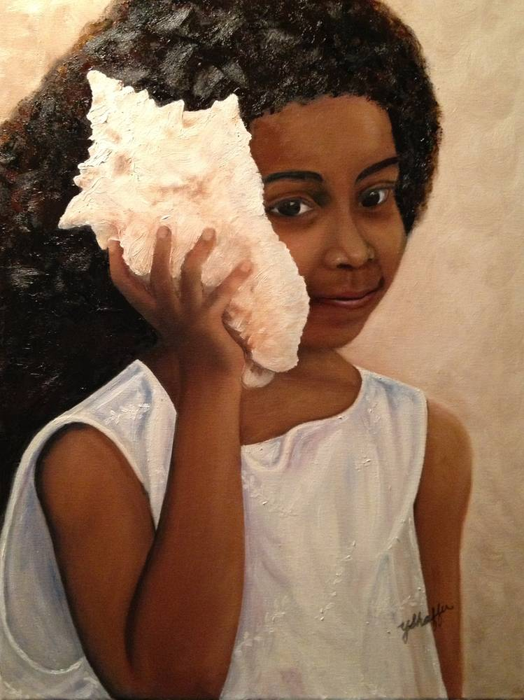 Oil painting Island Girl by Yvonne Shaffer