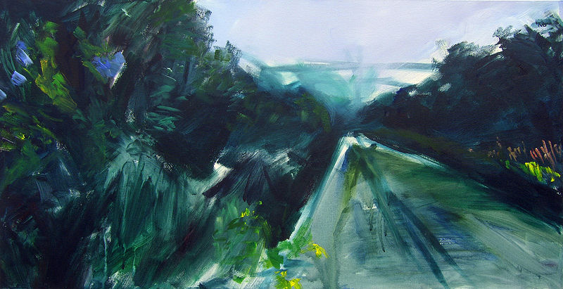 Acrylic painting Big Valley Road by Shawn Jordan