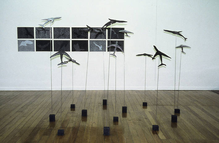 "Painting ""Flock"" exhibited with Mastery Exhibition, SOFA Gallery 2005 by Belinda Harrow"