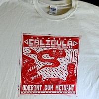Print Caligula t-shirt by Phil Cummings