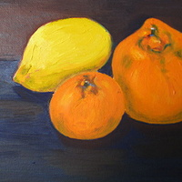 Oil painting Oranges and lemons by Michelle Marcotte