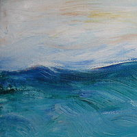 Oil painting Sunny Day Ocean by Michelle Marcotte