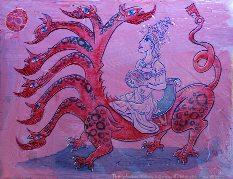 the Woman riding the Scarlet Beast by Kenneth M Ruzic