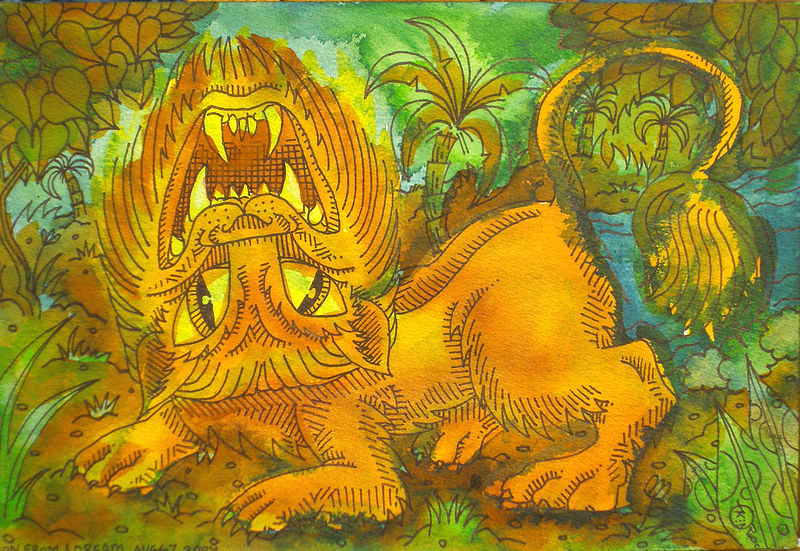 Drawing Lion from a Dream by Kenneth M Ruzic