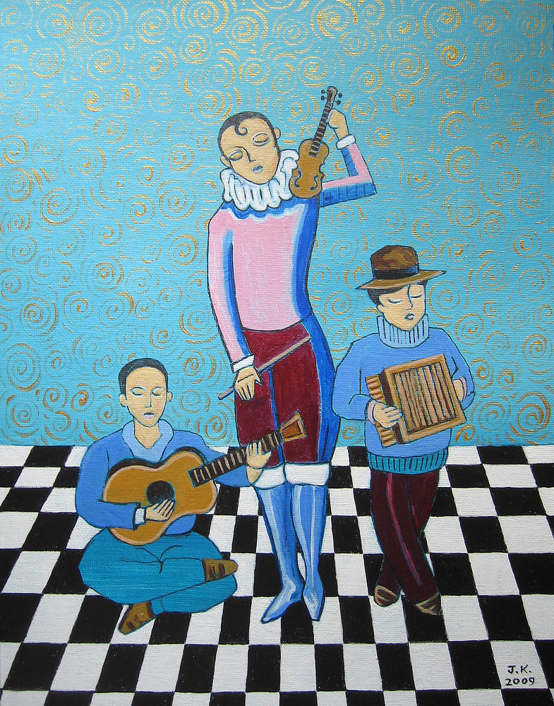 Three Troubadors by John Keaton