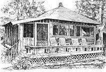 Drawing Cabin by House-Illustrations by Joel Abramson