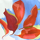Acrylic painting Leaves five © 2006 by Gwenda Branjerdporn