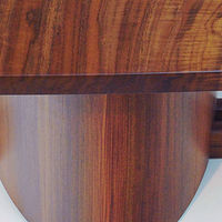 Oil painting Free Form Center Table  (Claro Walnut / Rosewood) Detail #1 by Enrique Morales