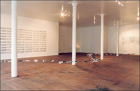 "installation view of ""Soldiers"" by Belinda Harrow"
