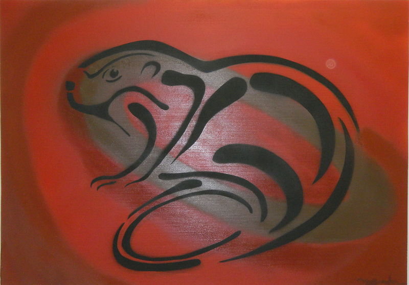 Painting Beaver Spirit by Sharon  Hunter