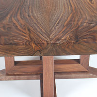Oil painting Live Edge Black Walnut Coffee Table Detail #1 by Enrique Morales