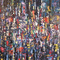 Acrylic painting Urban Rhythms #4 by David Tycho
