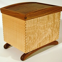 Keepsake Box Maple-Walnut  by Enrique Morales