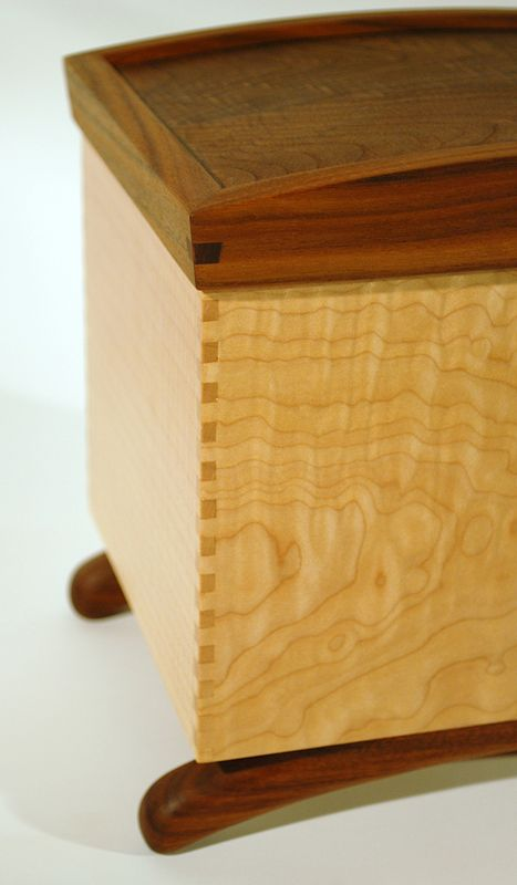 Keepsake Box Maple-Walnut Detail #1 by Enrique Morales