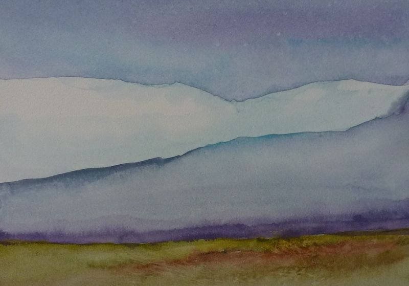 "Watercolor Sky #7   5"" x 7"" by Lisa Tomczeszyn"