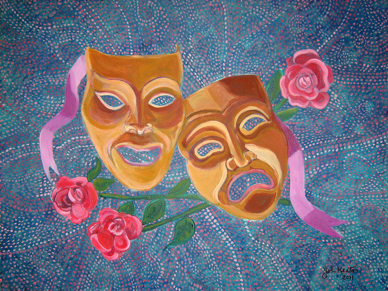 Drama Masks by John Keaton
