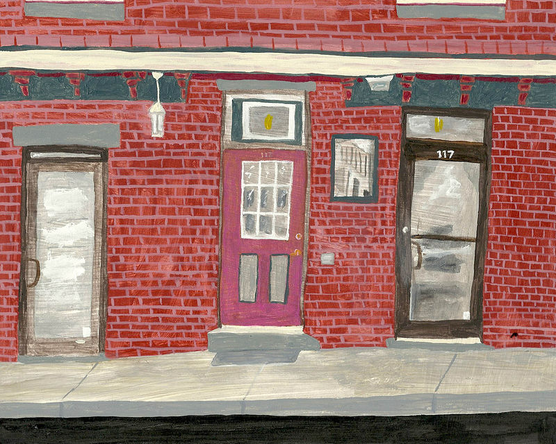 Acrylic painting 3 doors @ 117 by anthony Ziegler