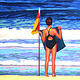 Oil painting Aussie Girl  by Jodi Jansons