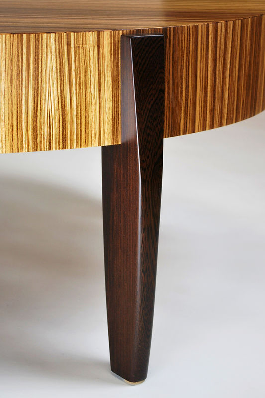 Oil painting Zebrawood- Wenge Center Table dETAIL #2 by Enrique Morales