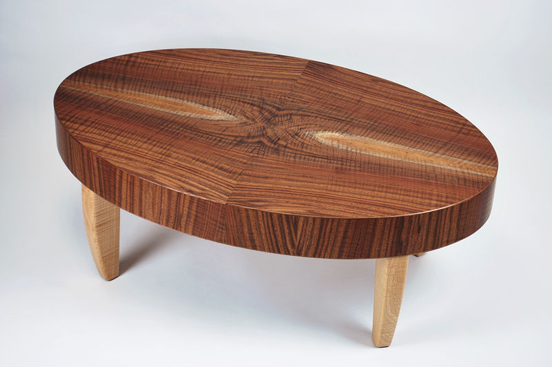 Claro Walnut- Maple Table Detail #1 by Enrique Morales