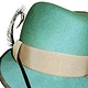 duck egg trilby front by Fiona Menzies