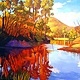 Oil painting Wollombi Creek Gold by Guntis Jansons