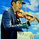 Oil painting The Violin Player  by Jodi Jansons