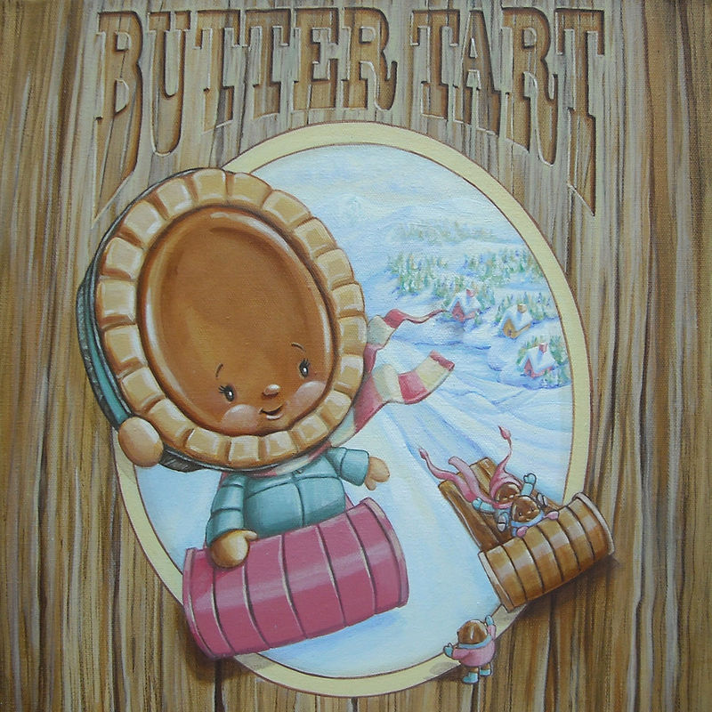 Acrylic painting BUTTER TART by Cindy Scaife